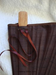 Brown Silk Renaissance Stays - Busk in Pocket Detail, by Sidney Eileen