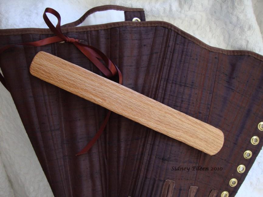 Brown Silk Renaissance Stays - Busk Close-up, by Sidney Eileen