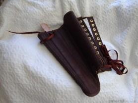 Brown Silk Renaissance Stays, by Sidney Eileen