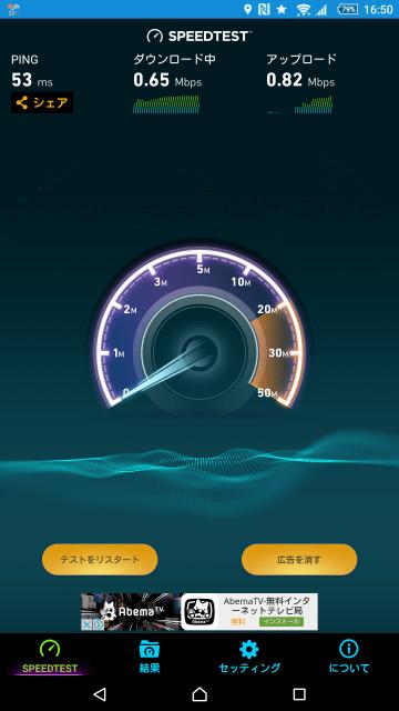 b-mobileの速度