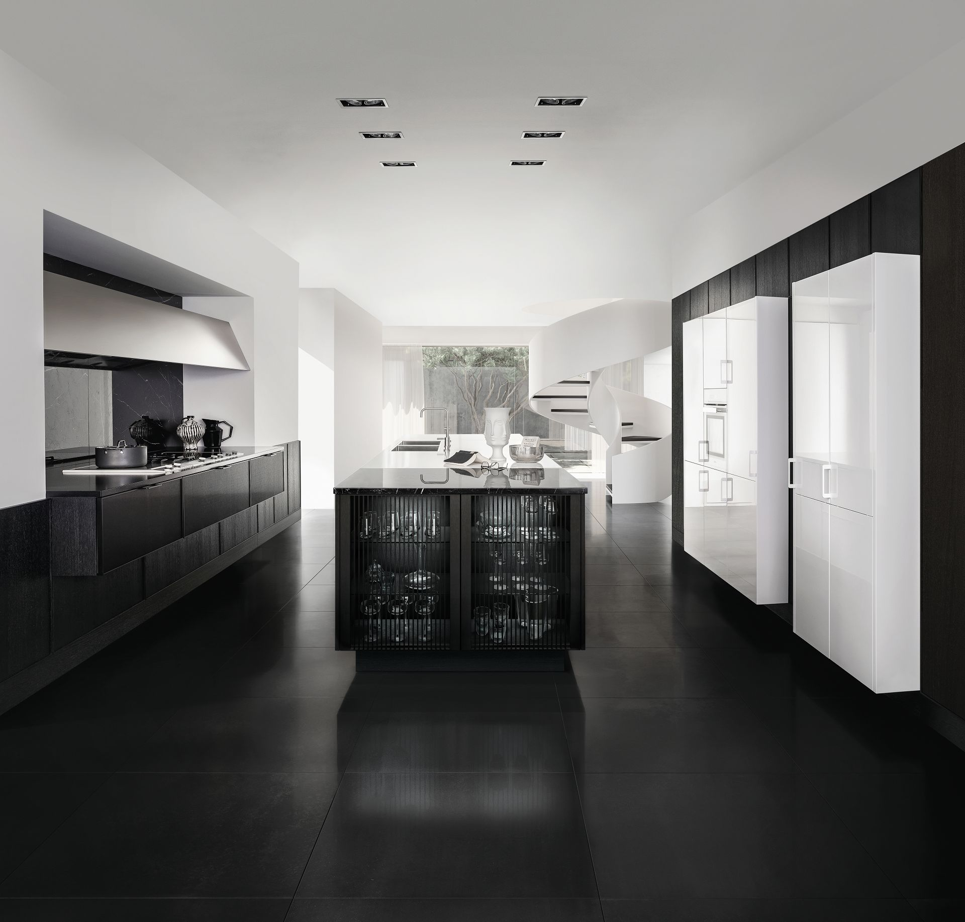 Black Design For Kitchen Siematic Pure Minimalist Kitchen Design Maximum Precision