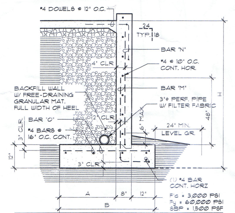 Concrete Retaining Wall Design Example - staruptalent - - Design Of Retaining Walls Examples