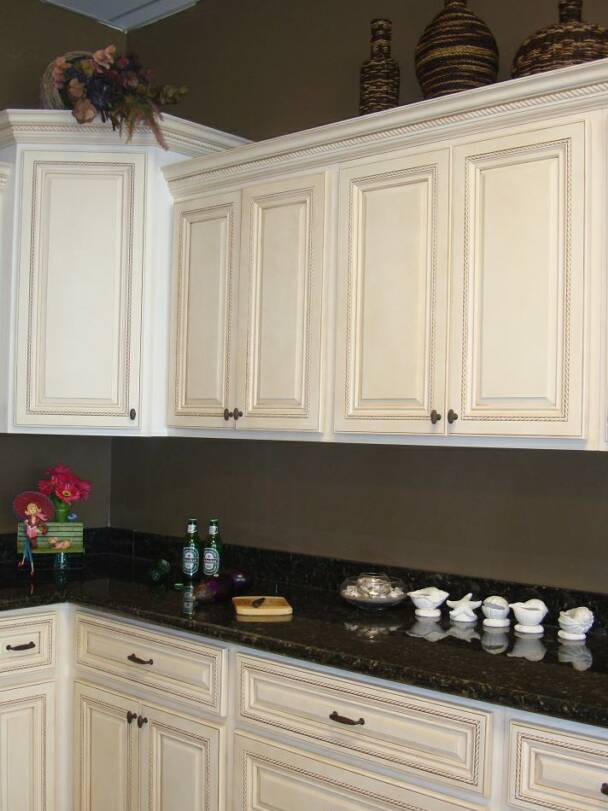 Antique White Cabinets An Antique White Kitchen Cabinet And Furniture : Yes Or No