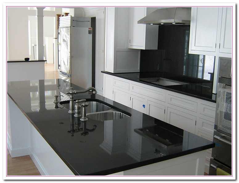 White Cabinets With Dark Granite Working On White Granite Countertop For Luxury Kitchen