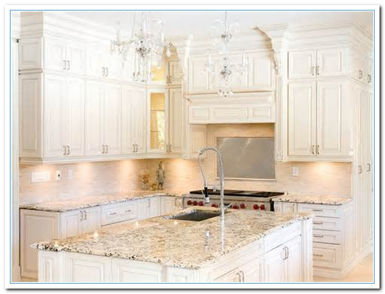 Kitchen Cabinet And Granite Ideas Featuring White Cabinet Kitchen Ideas | Home And Cabinet