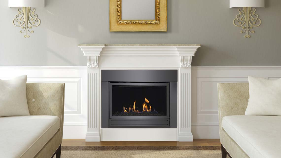 Direct Vent Linear Gas Fireplace The Bradley Sierra Flame