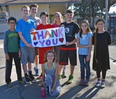 SFCS Students Say Thank You