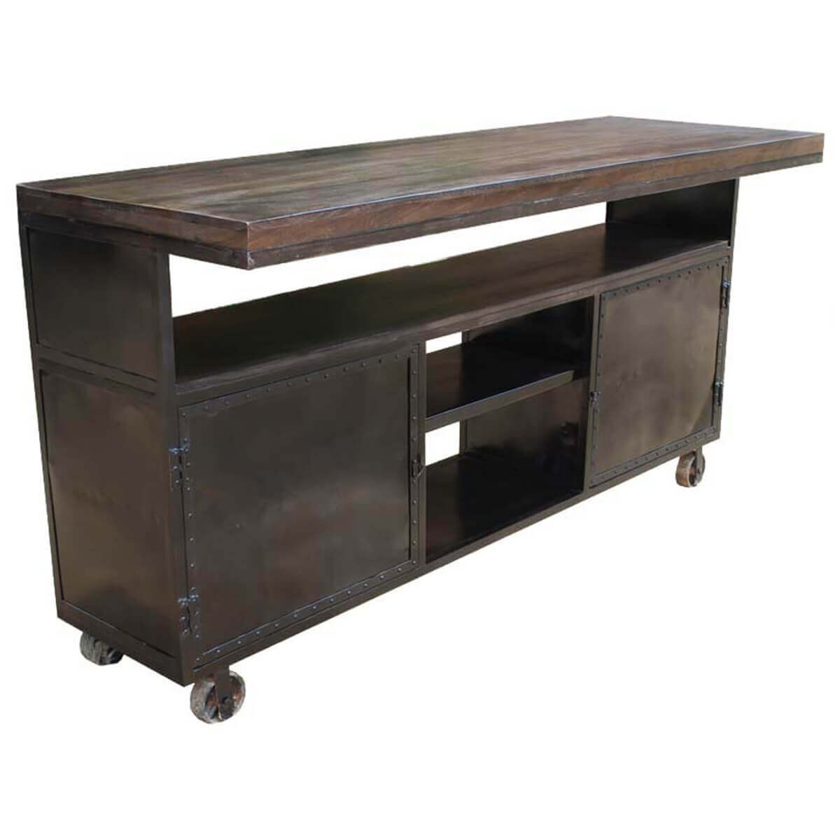 Wheeled Kitchen Islands Kitchen Island Industrial Rolling Large Sideboard Buffet