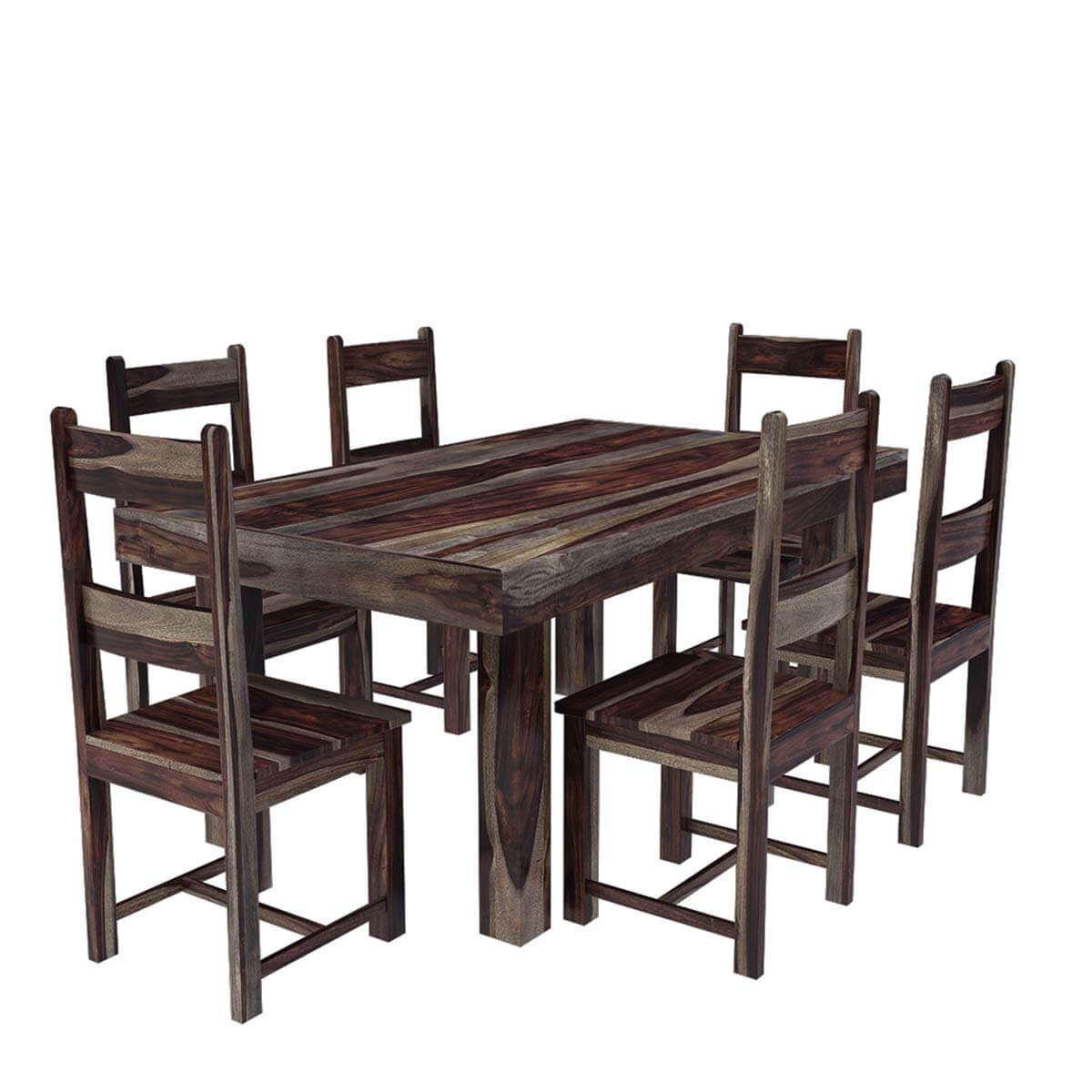 Modern Wooden Dining Room Chairs Frisco Modern Solid Wood Casual Rustic Dining Room Table