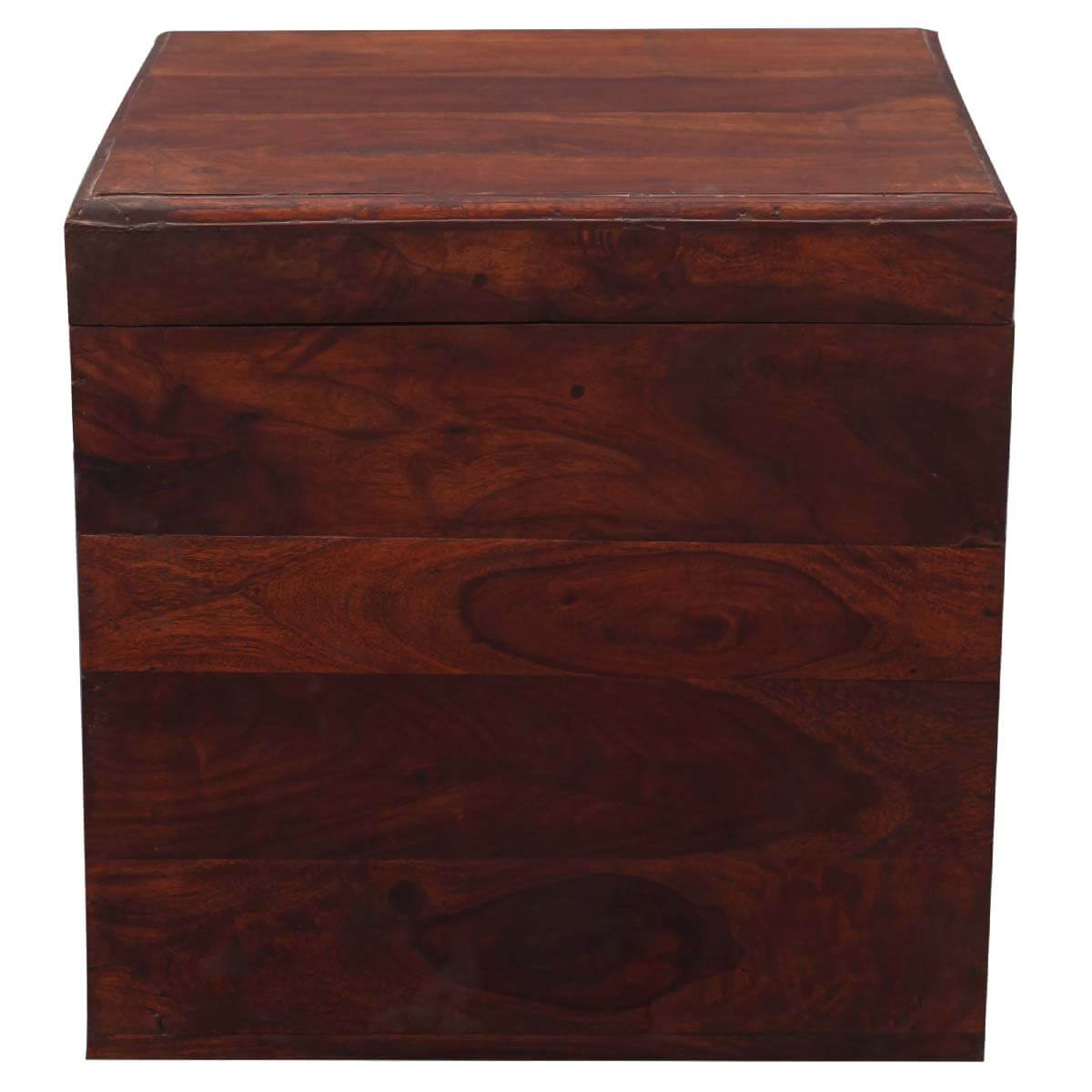 Box End Table Santa Fe 18 Quot Cube Solid Wood Storage Box End Table