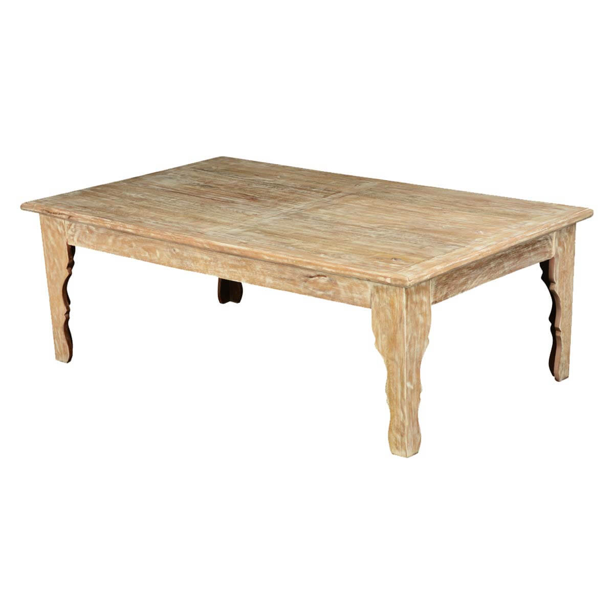 Coffee Table White Wood Winter White Mango Wood Rustic Coffee Table