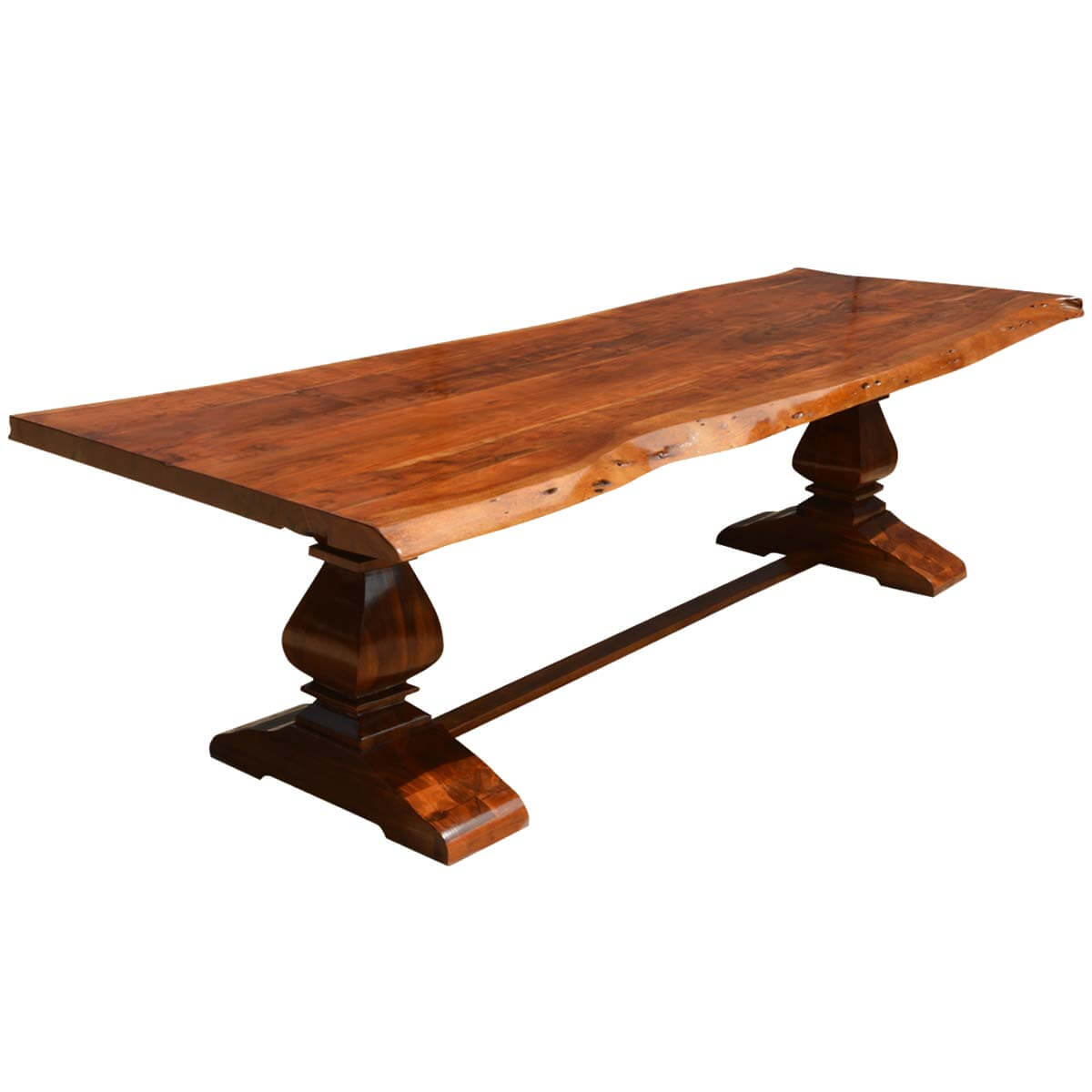 Acacia Dining Table Live Edge Acacia Wood Trestle Dining Table