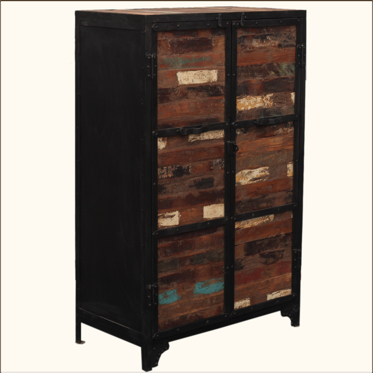 Industrial Wardrobes Industrial Reclaimed Wood Iron Rustic Storage Clothing