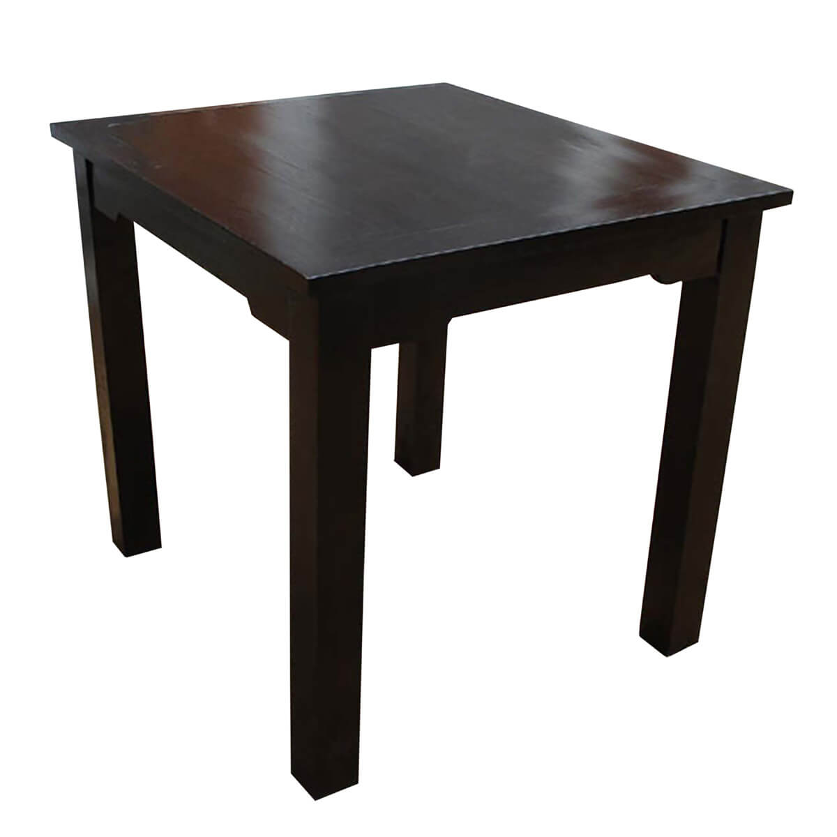 Finish Tables Casual Square Dining Table W Ebony Finish Made Of Solid Wood
