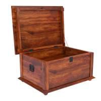 Primitive Wood Storage Grinnell Storage Chest Trunk Coffee ...