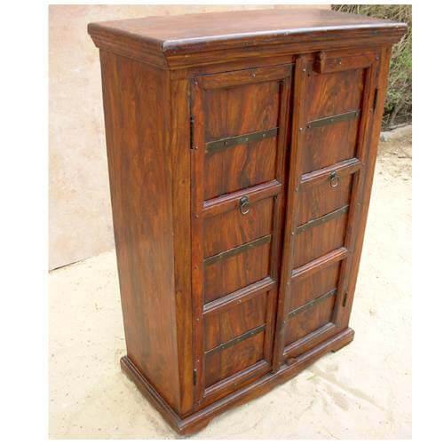 Spiegelschrank Massivholz Solid Wood Storage Cabinet Armoire Furniture