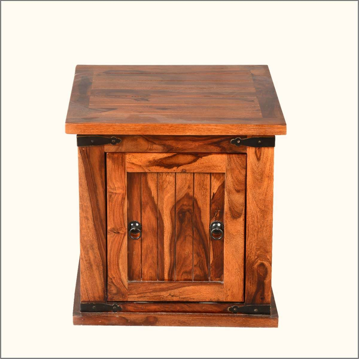 Sofa End Tables With Storage Solid Wood Square Storage Box Trunk Sofa Side End Table