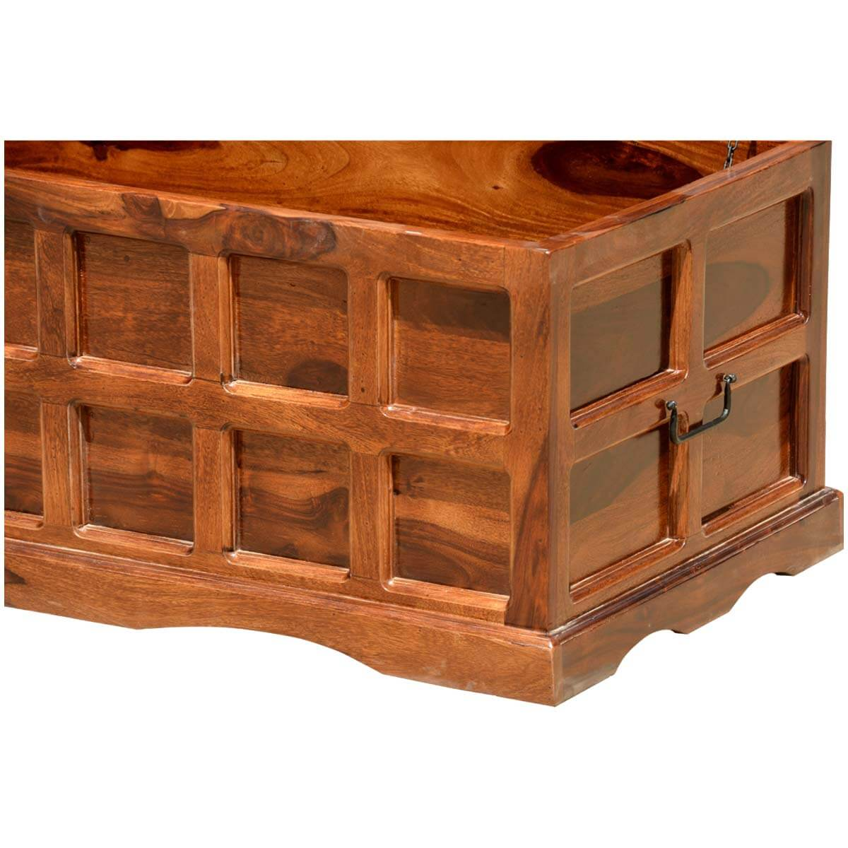Wood Coffee Table With Storage Solid Wood Handmade Traditional Coffee Table Storage Box Chest