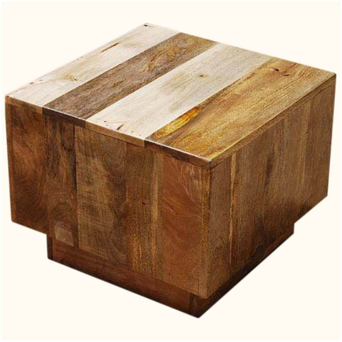 Wood Cube End Table Key West Mango Wood Cube Accent Table