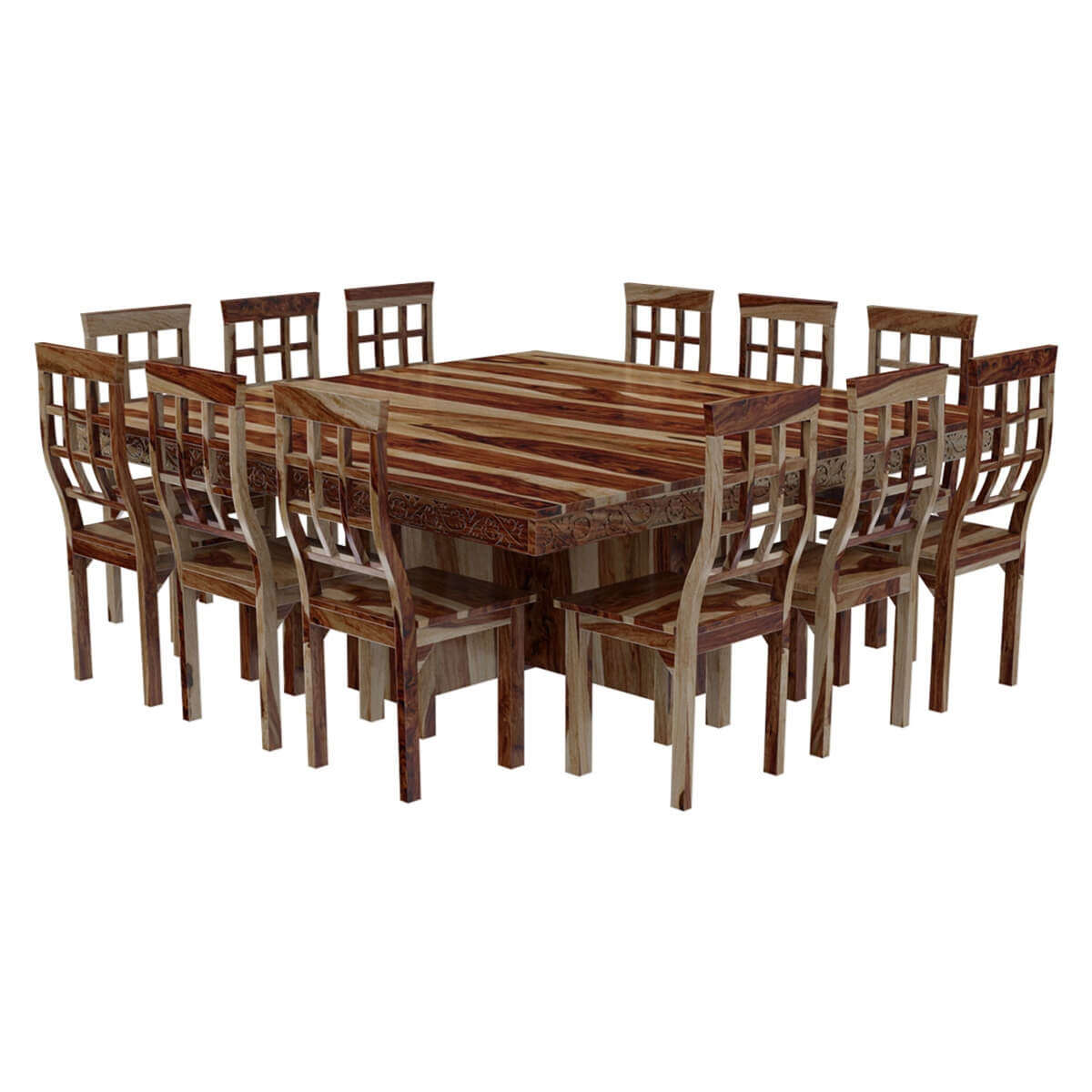 Esstisch Quadratisch 8 Personen Dallas Ranch Large Square Dining Room Table And Chair Set