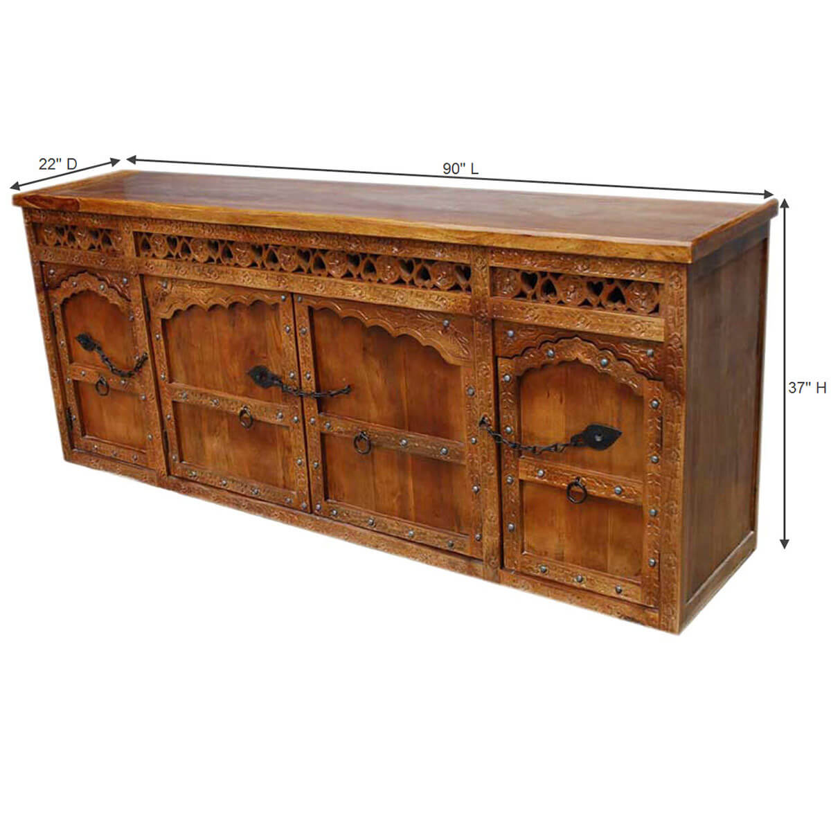 Furniture Manufacturers Ontario Ontario Hand Carved Solid Wood Wrought Iron Hardware Sideboard