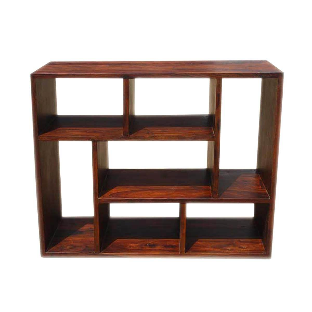 Cube Bookshelf Asymmetrical Cube Bookcase Contemporary Wooden Display