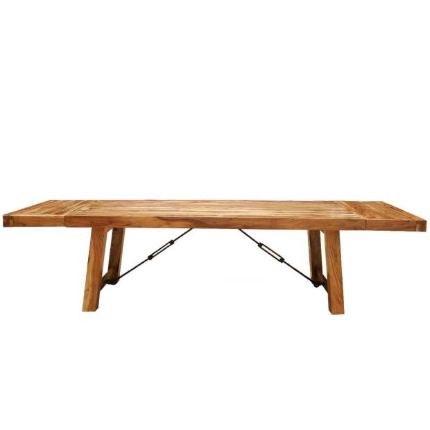 santa fe rustic wood large extendable dining table