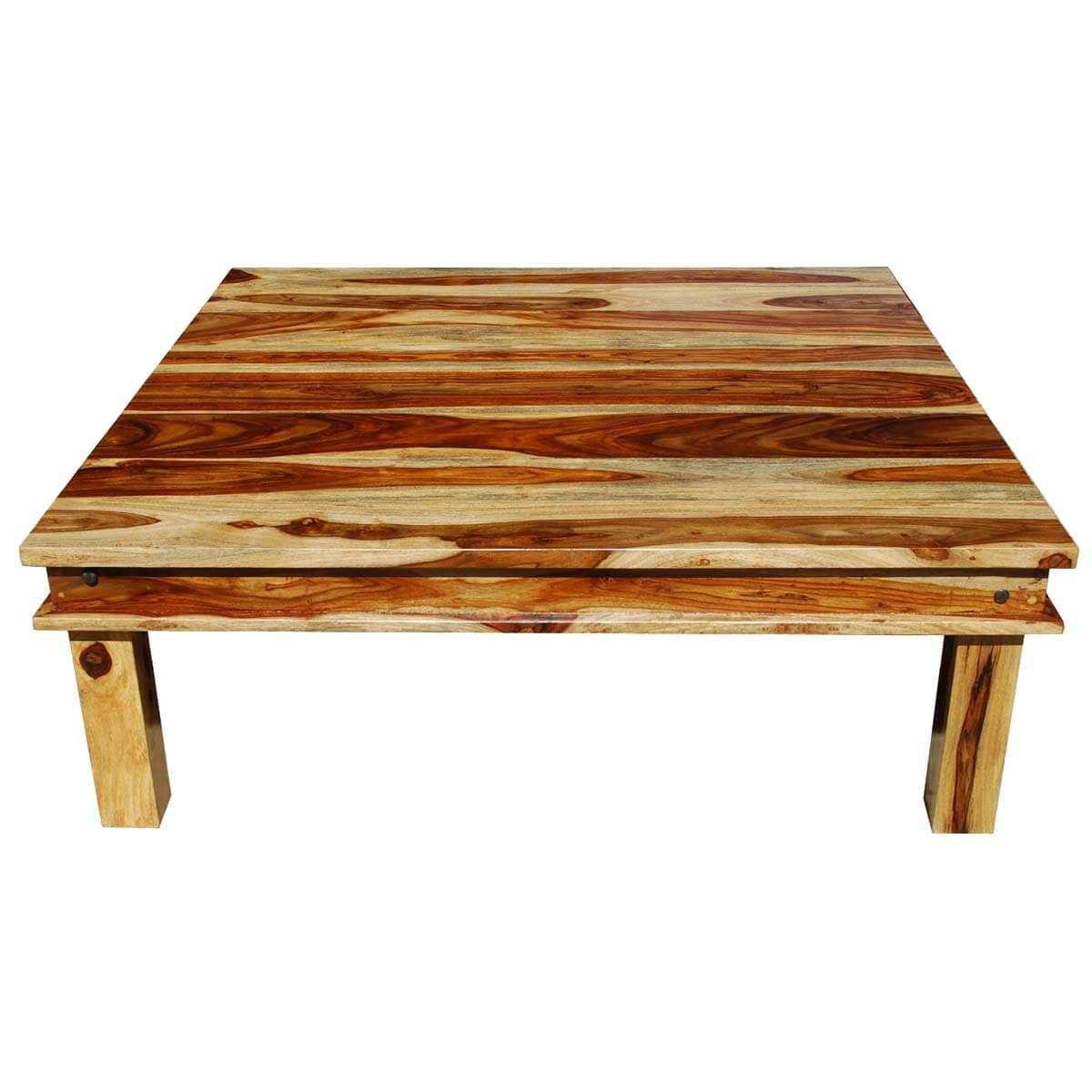 Coffee Wood Table Large Square Wood Rustic Coffee Table
