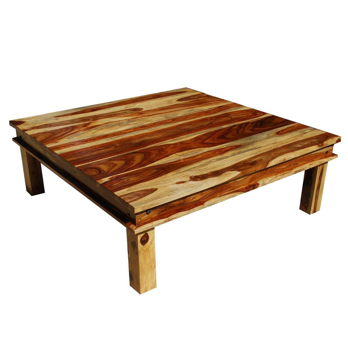 Couchtisch Rustikal Holz Large Square Wood Rustic Coffee Table