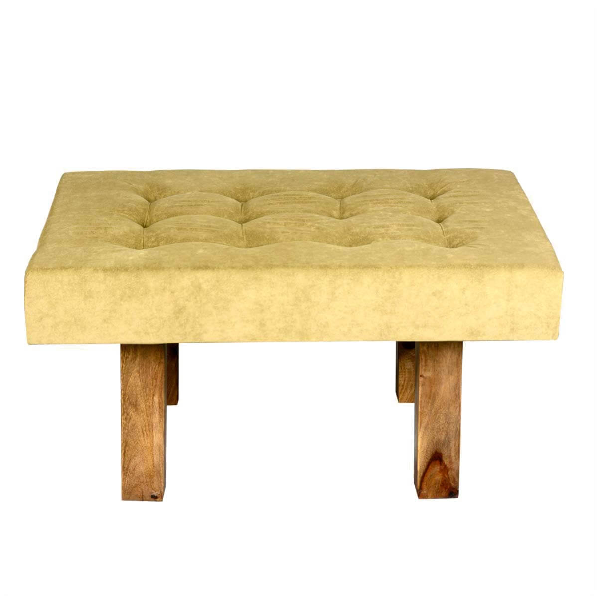 Fabric Coffee Table Contemporary Solid Wood And Tufted Fabric Coffee Table Ottoman