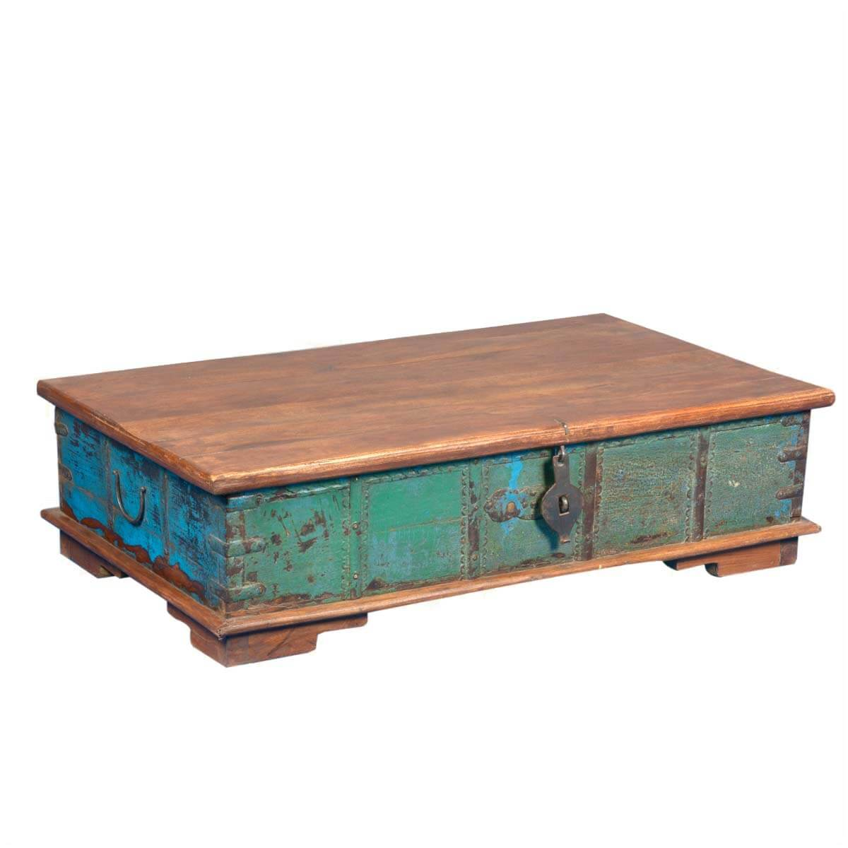Wood Coffee Table With Storage Emerald Treasure Reclaimed Wood Coffee Table Storage Chest