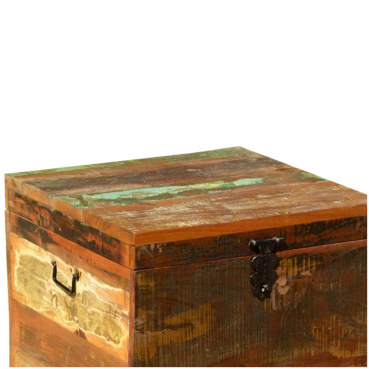Wood Cube End Table Grinnell Reclaimed Wood Rustic End Table Storage Cube Chest