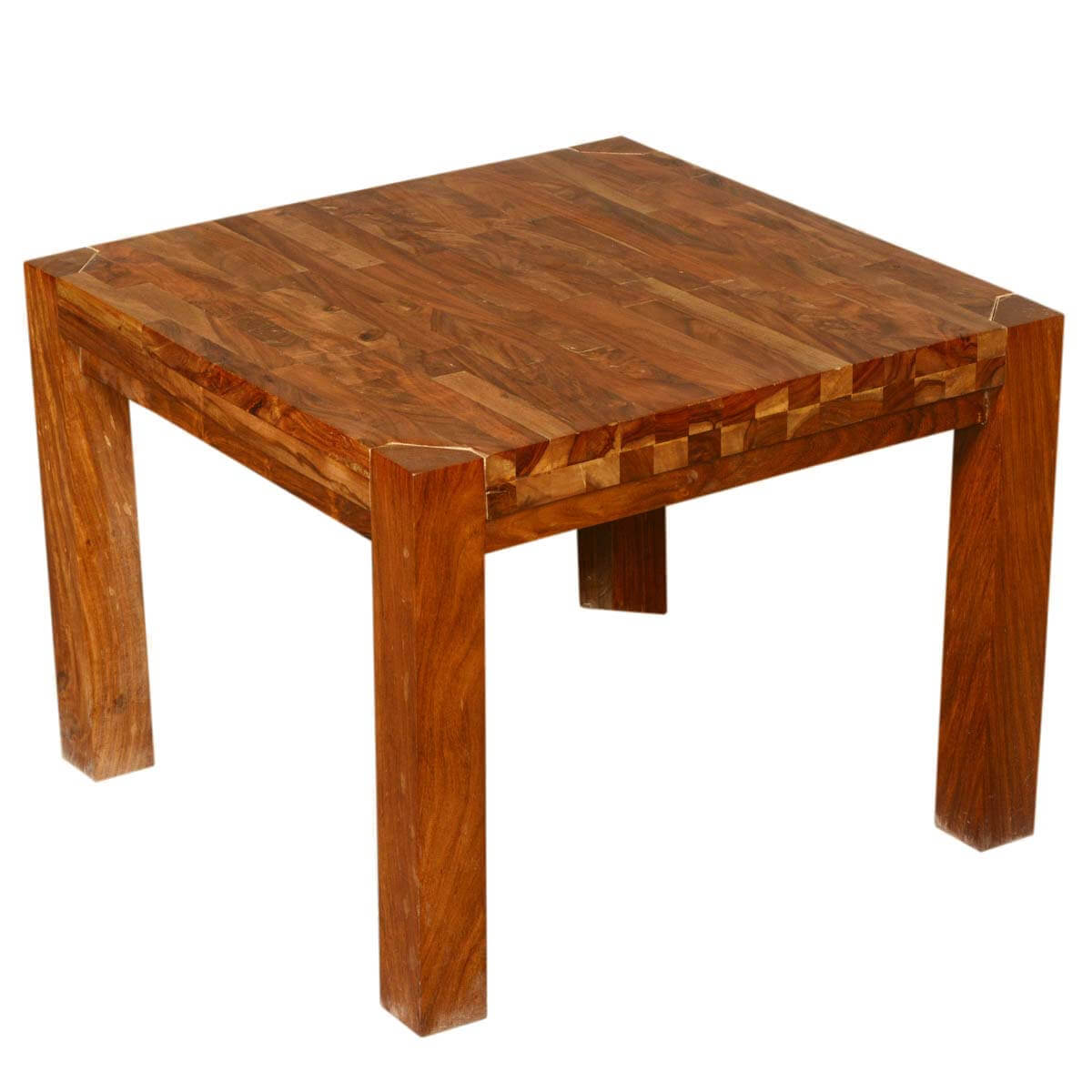 Wooden End Table Princeton Reclaimed Wood Square Accent End Table