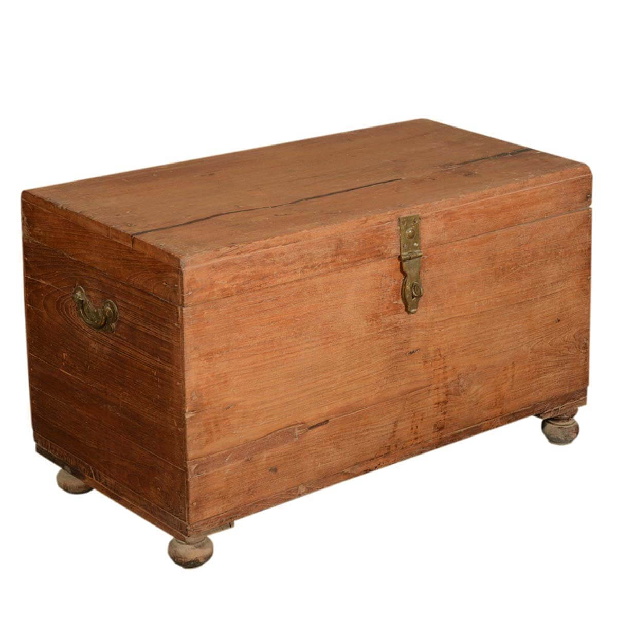 Wood Coffee Table With Storage Grinnell Primitive Reclaimed Wood Storage Coffee Table Chest