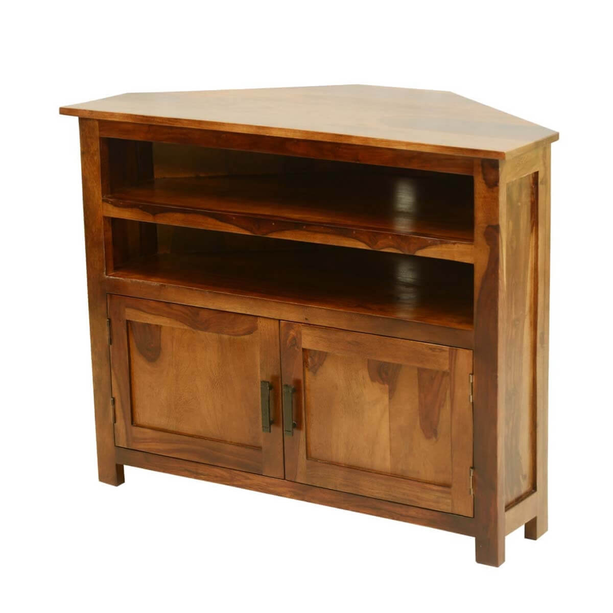 Farmhouse Corner Tv Stand Plans Farmhouse Solid Wood Corner Tv Media Stand