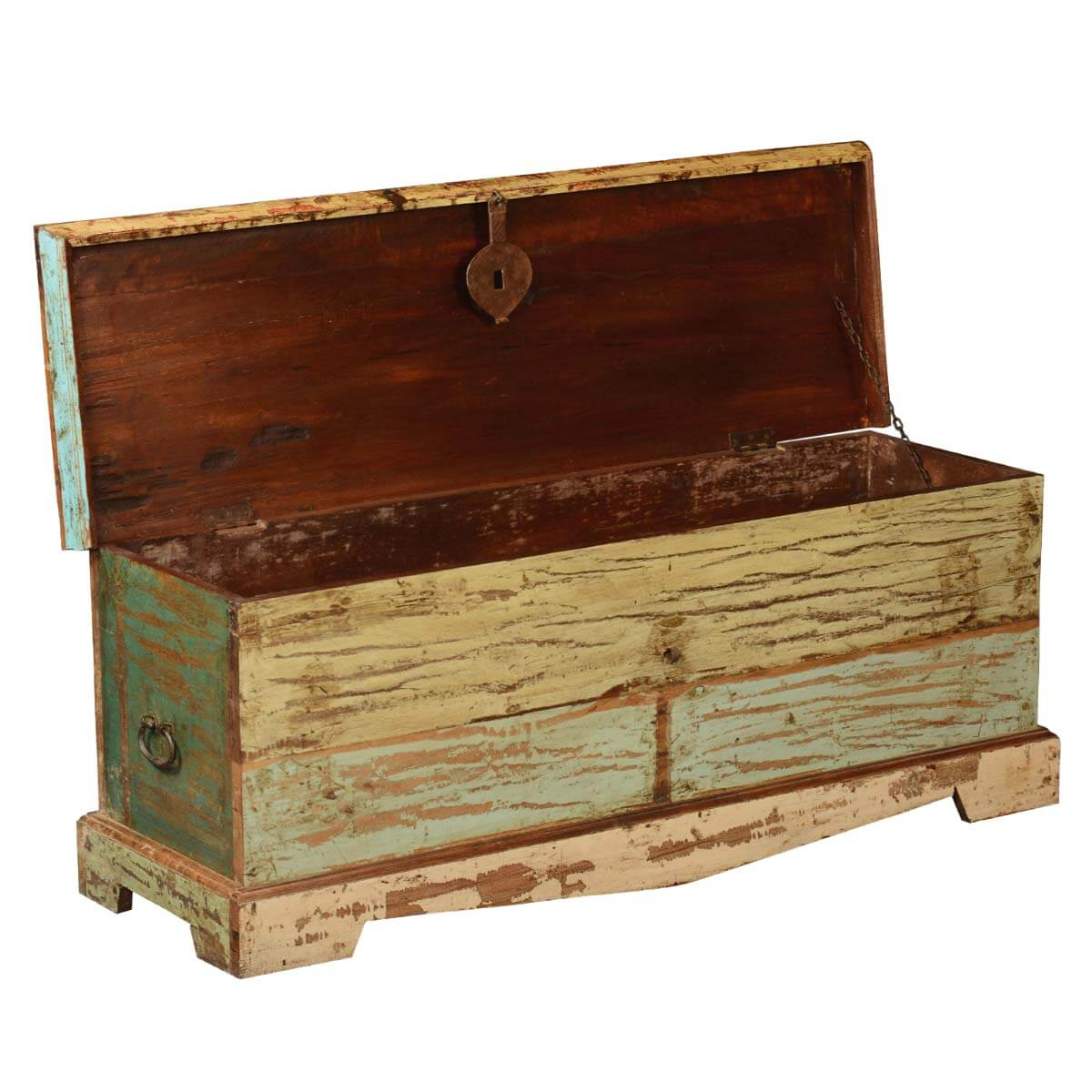 Wood Coffee Table With Storage Attic Treasure Reclaimed Wood Coffee Table Chest Storage Trunk