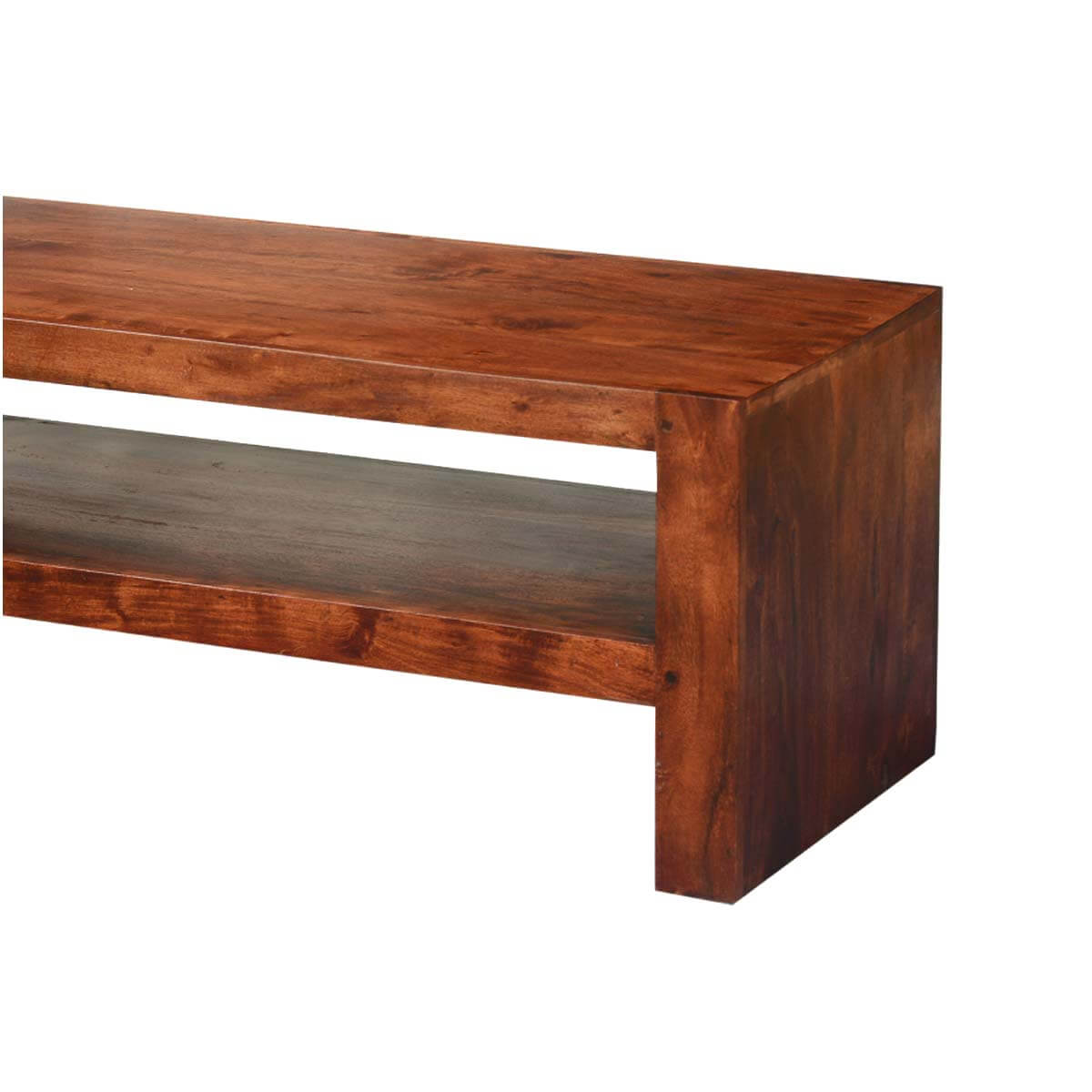 Tv Hidden In Coffee Table Modern Simplicity Acacia Wood Tv Stand Media Case Coffee Table