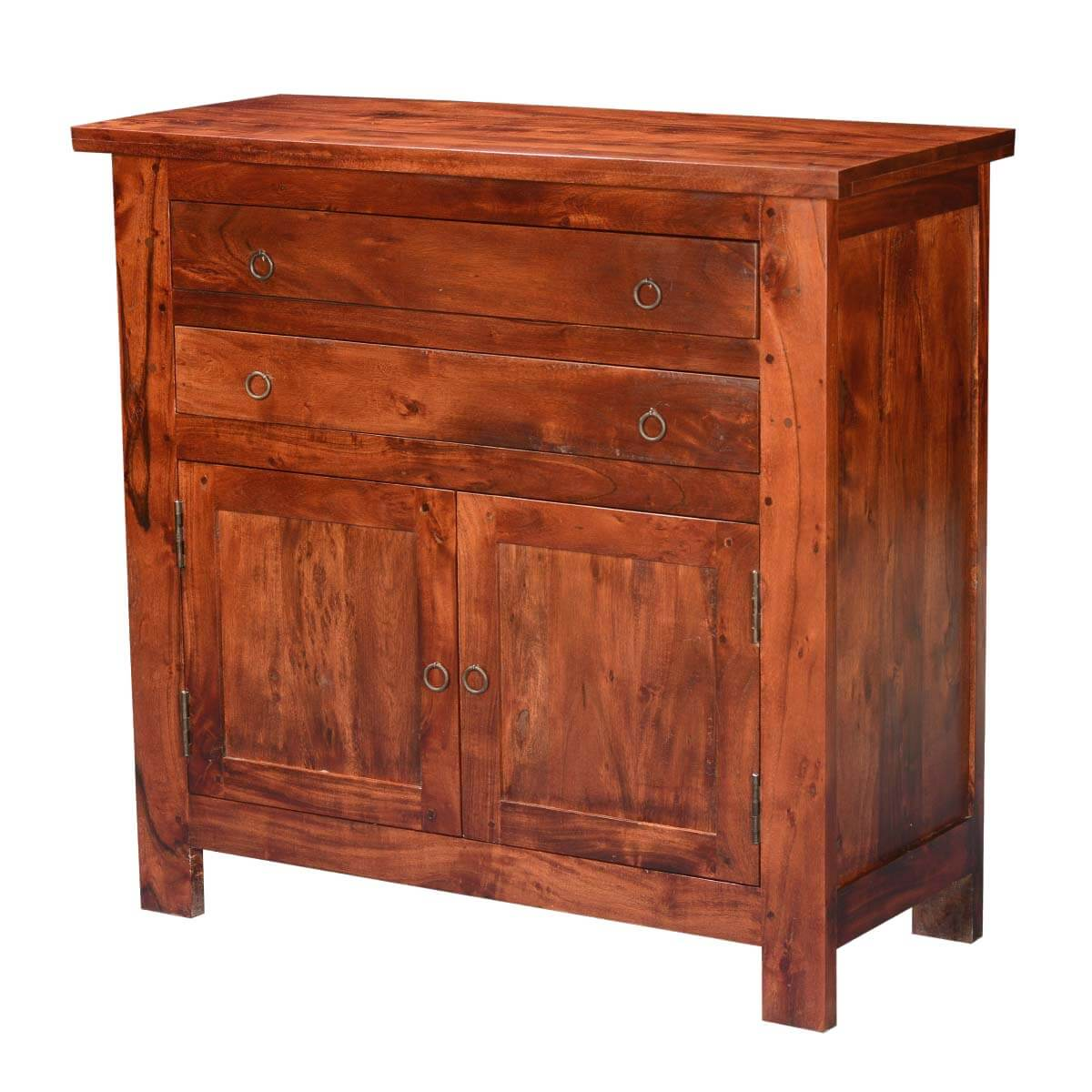 Sideboard Vitrine Mission Classic Acacia Wood Buffet Sideboard Cabinet