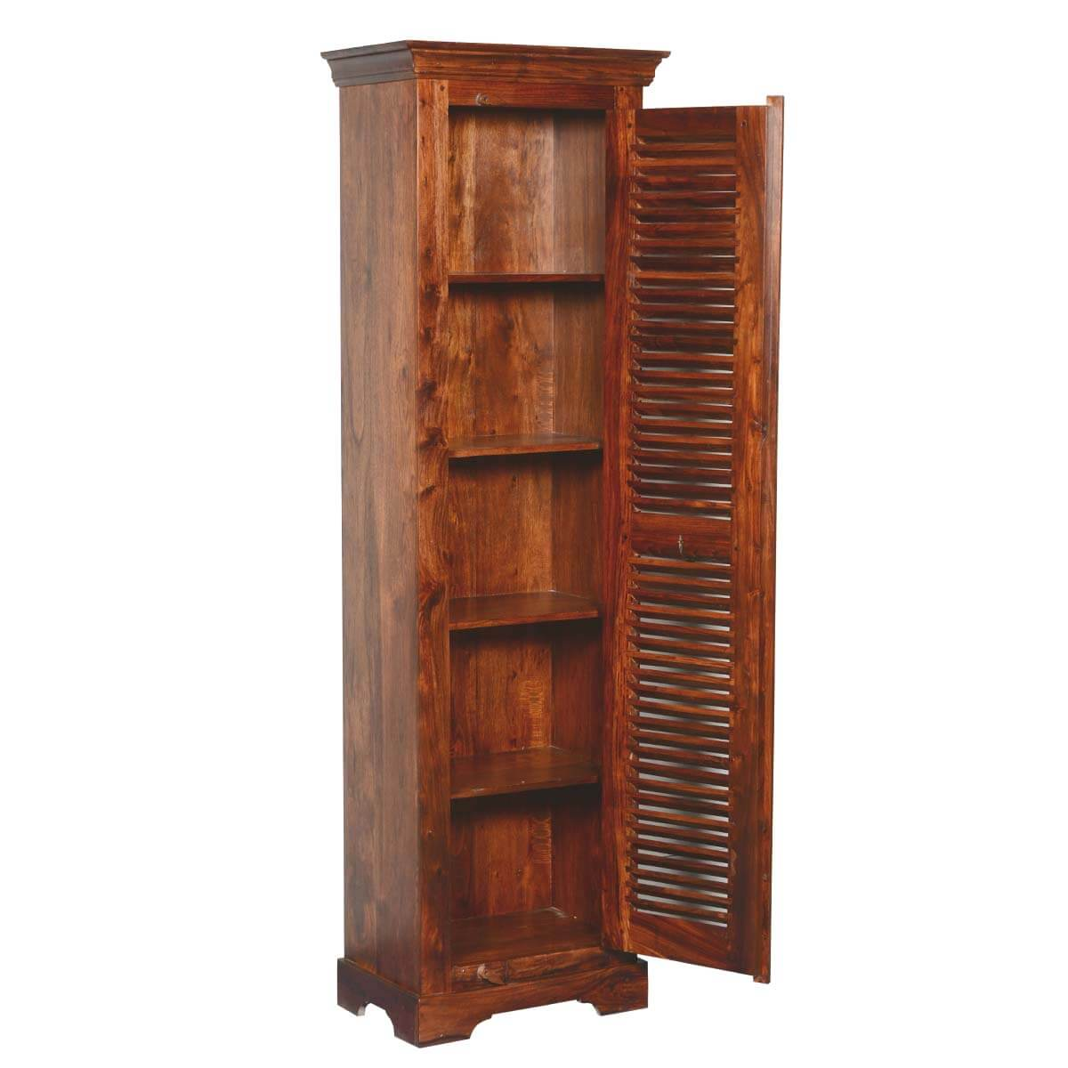 Farmhouse Shutters For Sale Farmhouse Shutter Door Solid Wood And Acacia 79 Quot Tower Cabinet