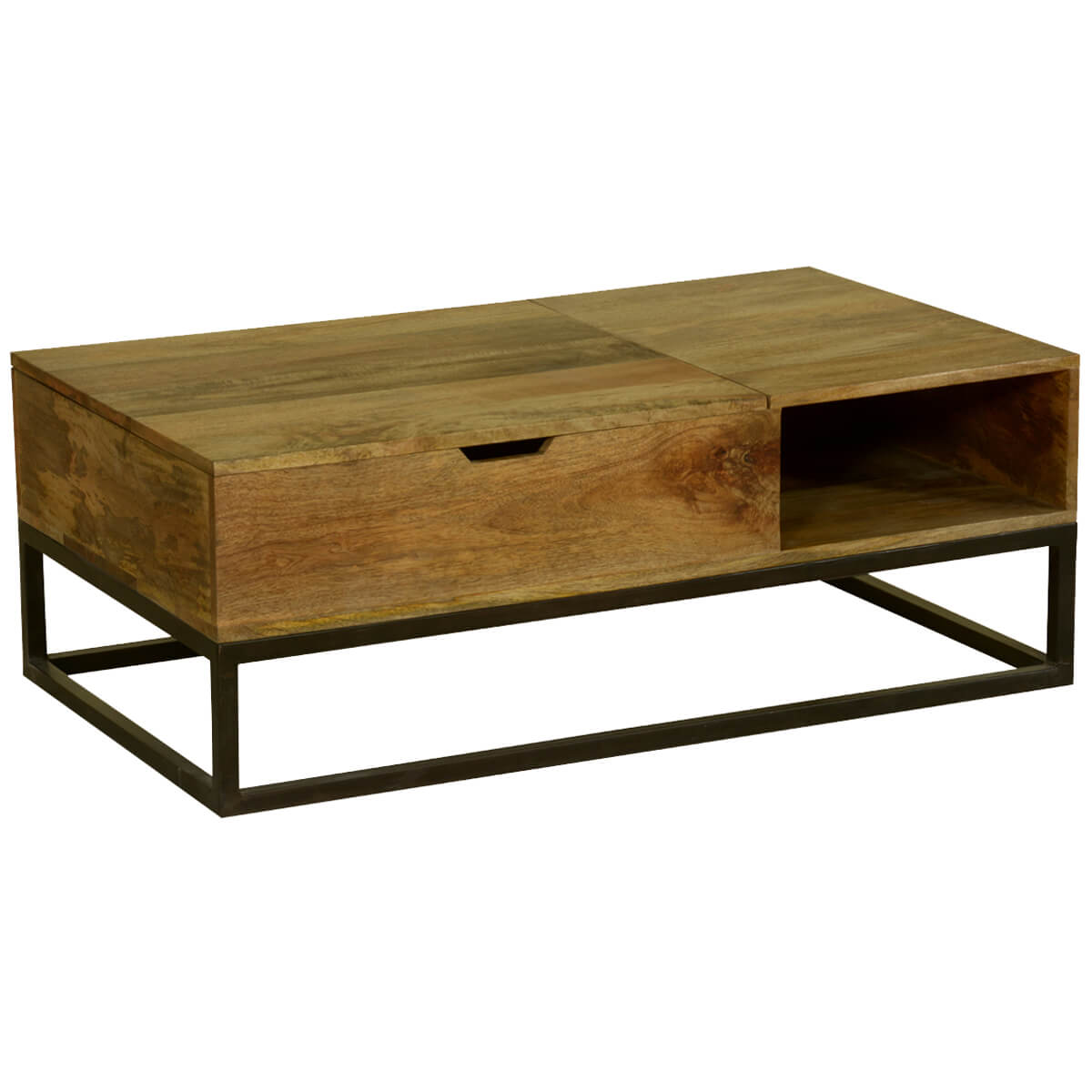 Industrial Coffee Table Modern Industrial Mango Wood And Iron Coffee Table Chest