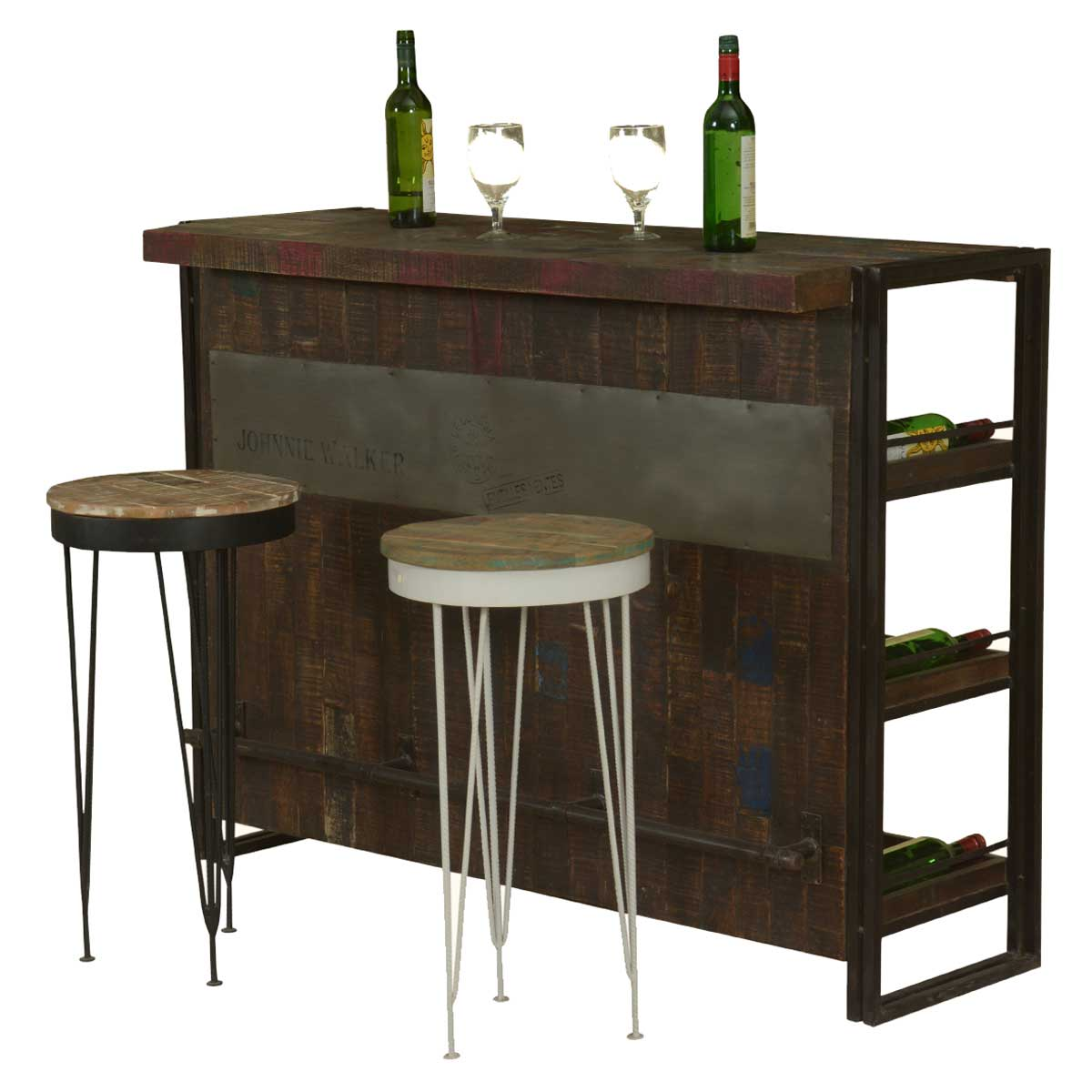 Modern Wood Counter Stool Gratis Modern Mango Wood Industrial Wine Bar Cabinet With