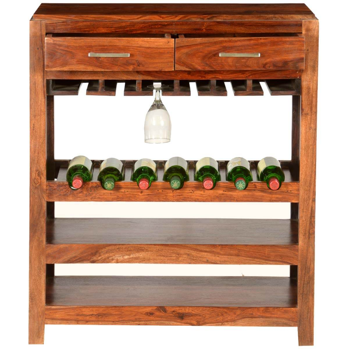 Modern Wine Rack Furniture Pioneer Modern Solid Wood 7 Bottle Wine Rack Bar Cabinet