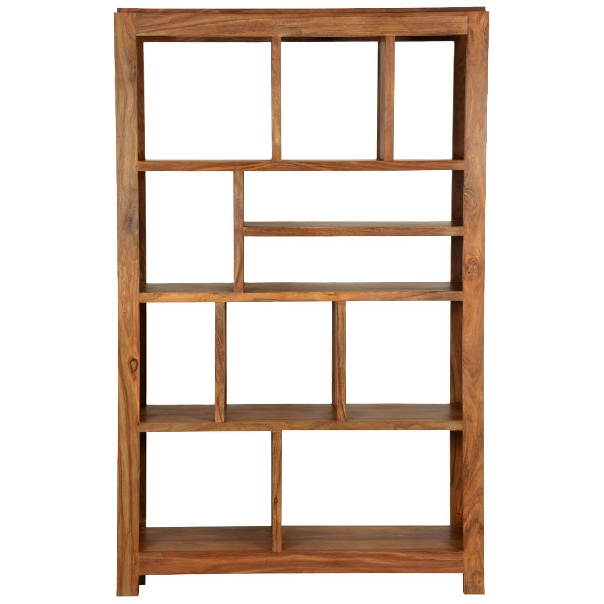 Cube Bookshelf Simply Modern Solid Wood 11 Section Display Rack Cube Bookcase