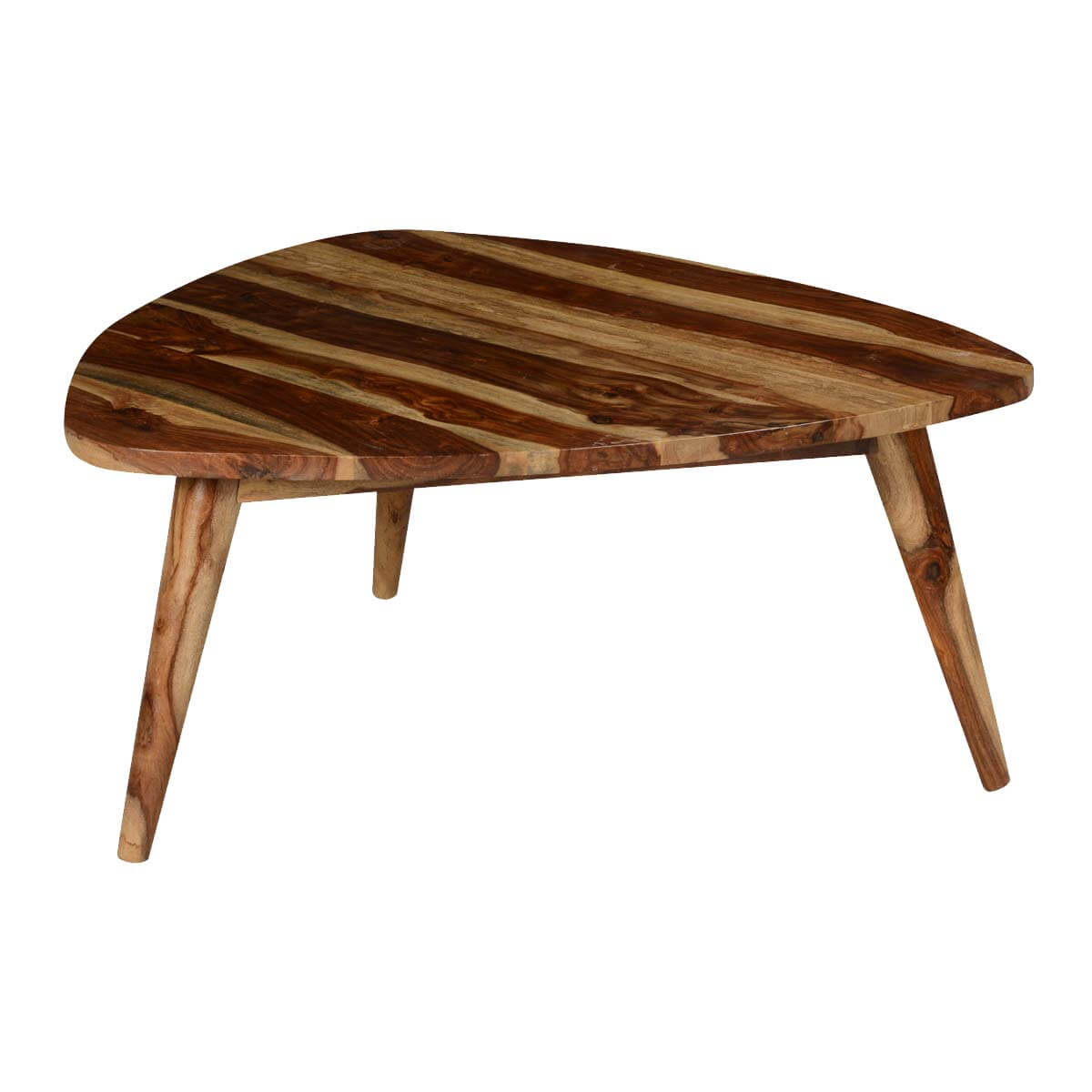 Triangular Table Plans Triangular Solid Wood Coffee Table