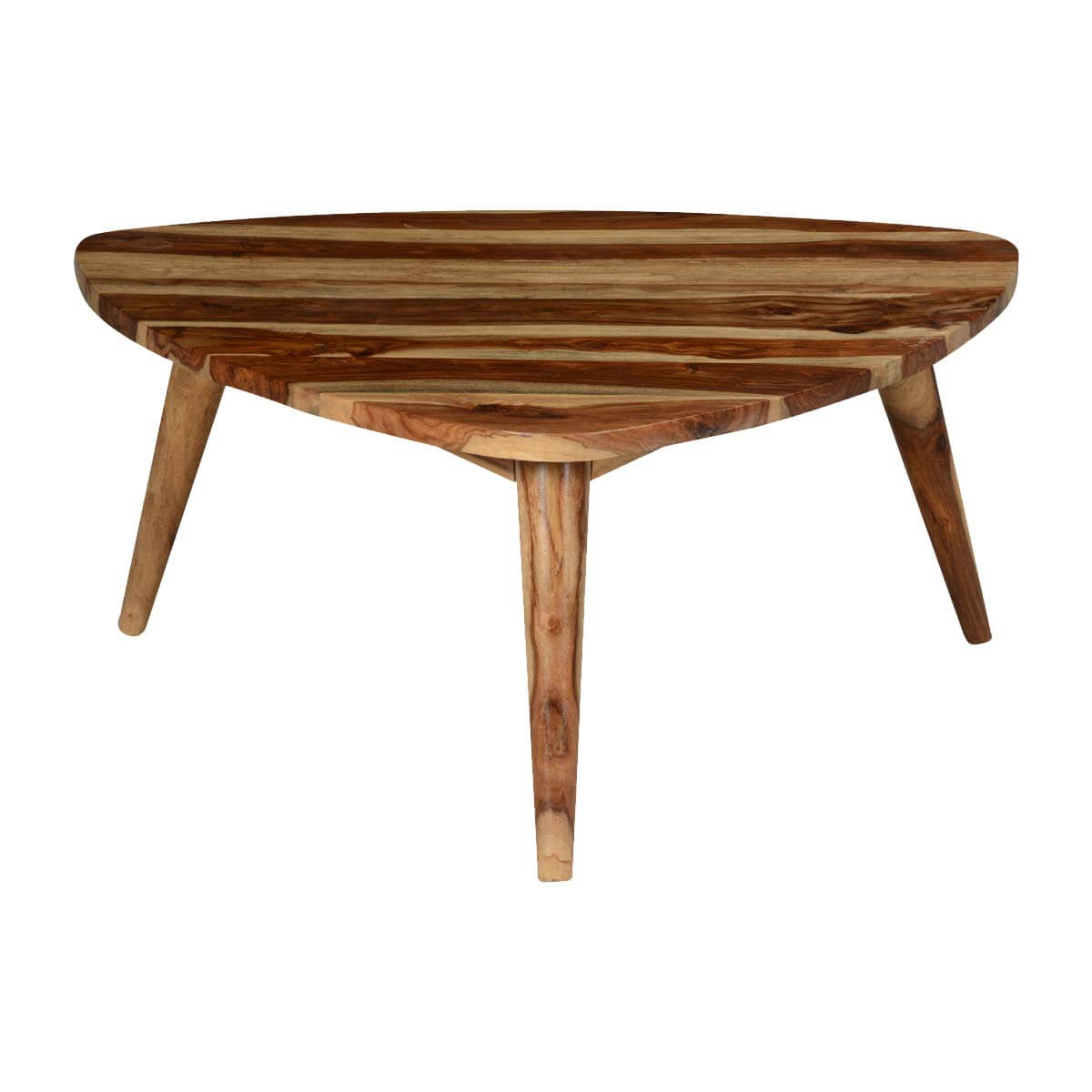 Couchtisch Dreieckig Holz Triangular Solid Wood Coffee Table