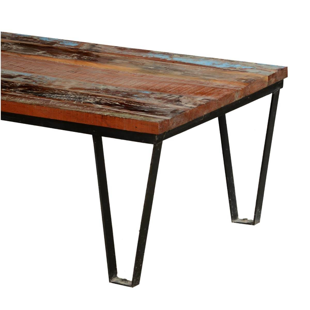 Industrial Coffee Table Reclaimed Wood Industrial Style Factory Cart Coffee Table