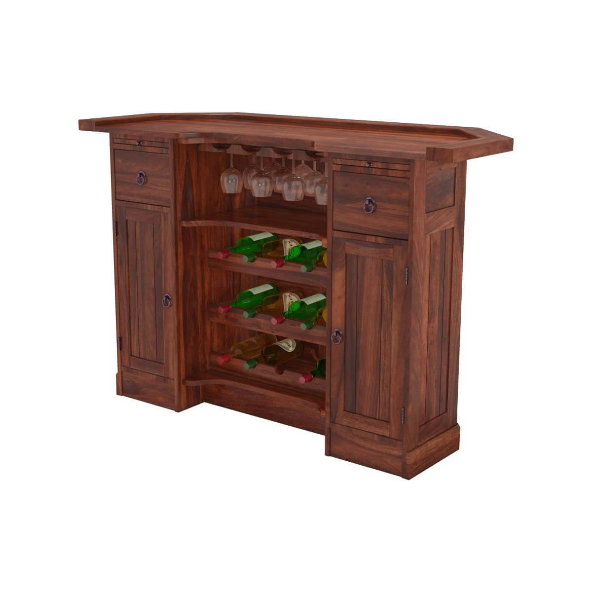Wood Wine Storage Sierra Solid Wood Wine Storage Home Bar Cabinet W Set Of 2
