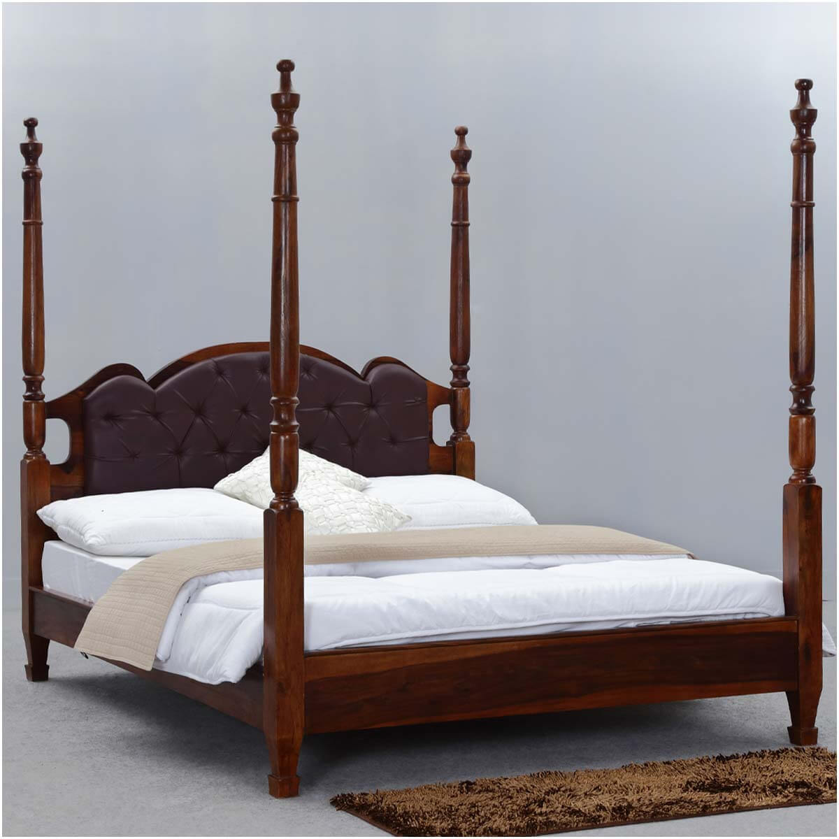 Wood Four Poster Beds Four Poster King Size Bed Frame English Tudor Solid Wood