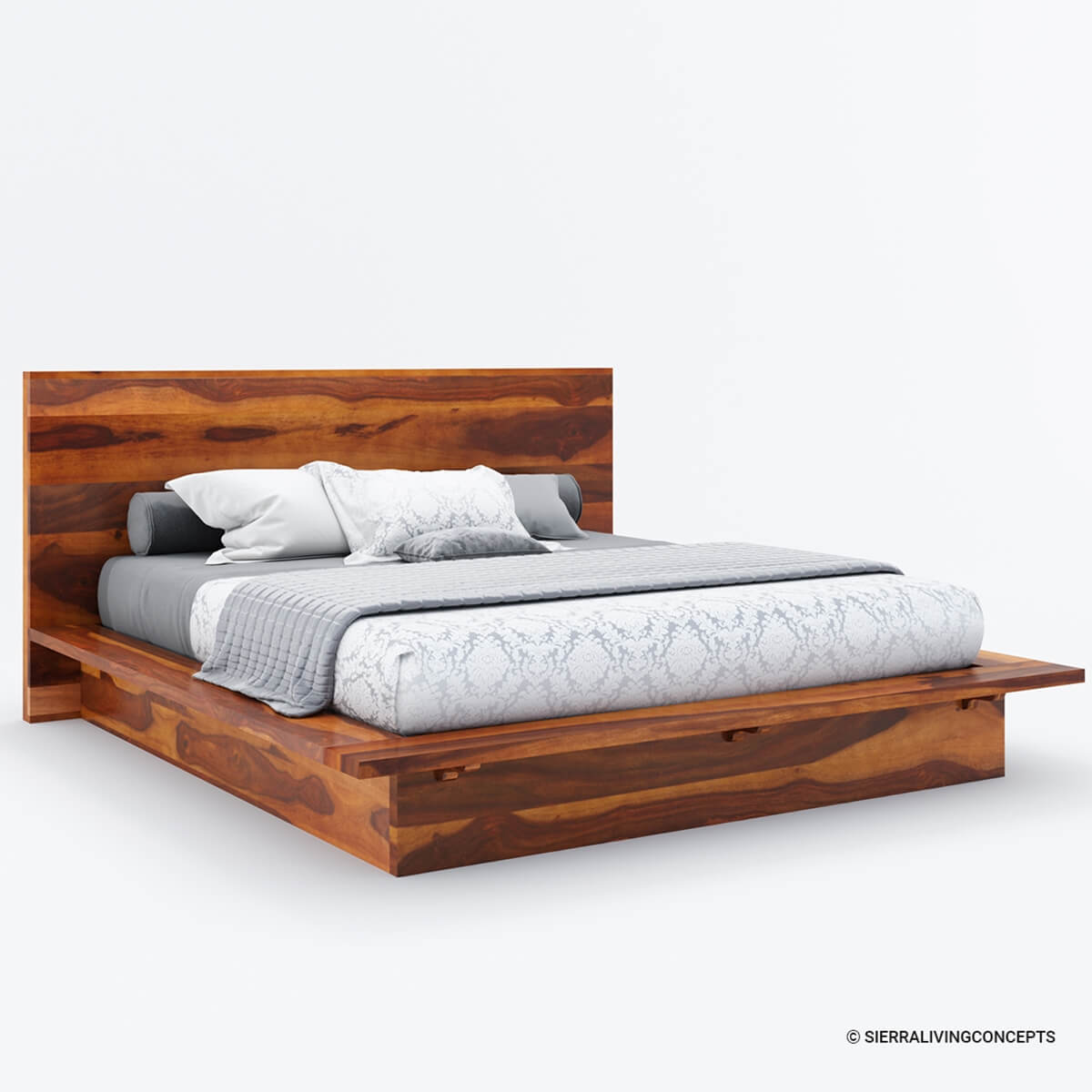 King Size Bed Frame Delaware King Size Solid Wood Platform Bed Frame