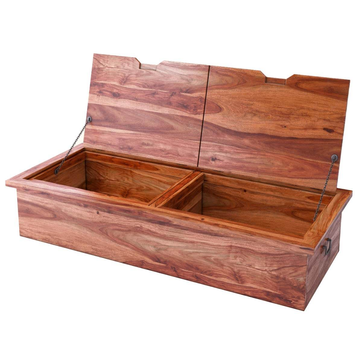 Wood Coffee Table With Storage Delaware Solid Wood Coffee Table Storage Trunk